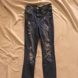 Garage High Waisted Ripped/Distressed Jeans